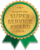 Triangle Service Center winner of Angie's List Super Server Award 2014