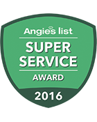 Triangle Service Center winner of Angie's List Super Server Award 2016